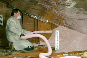 blown-in attic insulation