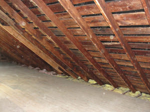 A South Carolina attic before installation of SuperAttic