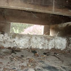 A crawl space vent in Hartsville that's bringing moisture into the home