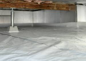 A sealed, insulated, and structurally repaired Summerville crawl space